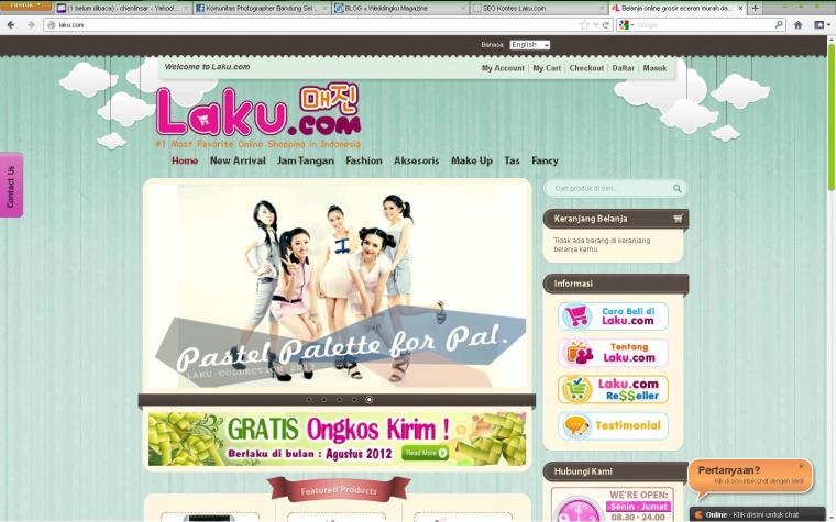 Antar-muka Laku.com