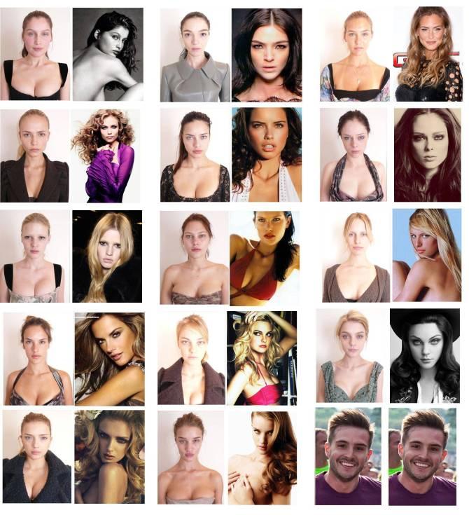 Supermodel tanpa Makeup