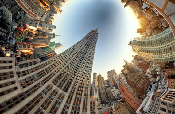 Gambar Panoramic Bulat digabungkan dari Ratusan Stills