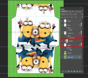 Menggunakan Fungsi Create Clipping Mask (CTRL+ALT+G)