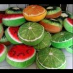 bantal buah, fruit pillow, bantal unik