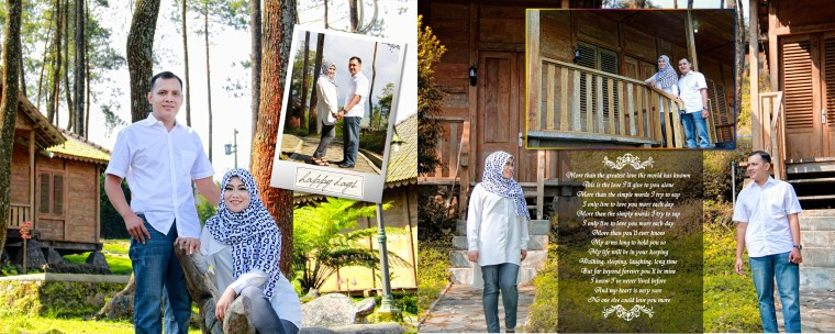 Kolase Pre Wedding, Album Magazine, Prewedding Bandung, Prewedding Pekalongan