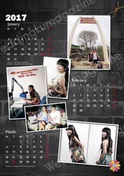 kalender gantung, kalender satuan, design kalender